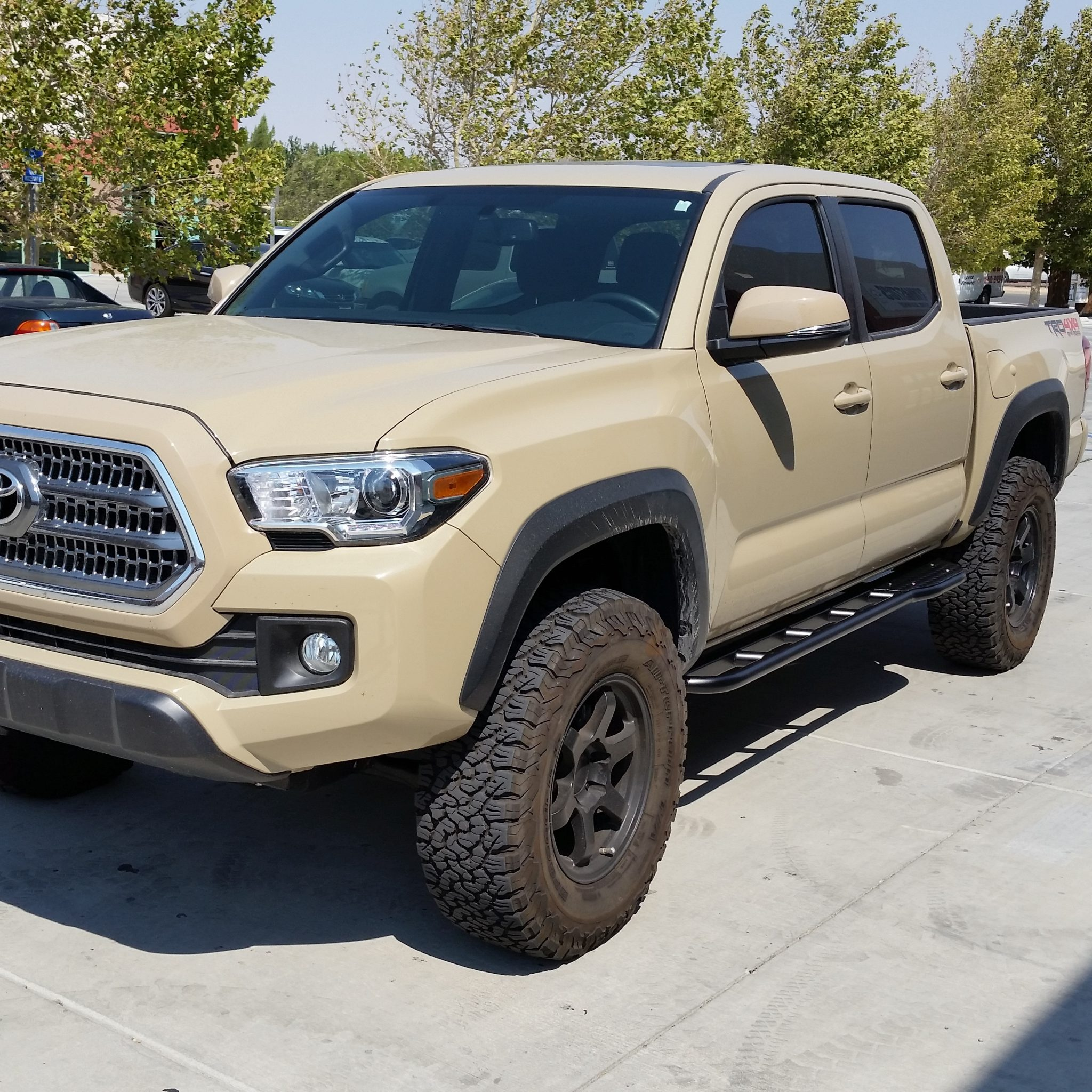 Toyota Tacoma Dimensions >> Toyota Tacoma 3rd Gen 2016 2020 Rock Sliders
