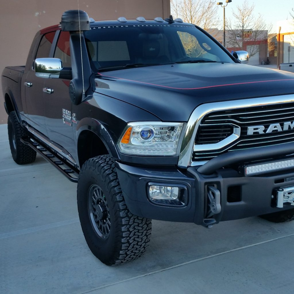 2014 Lifted Ram Mega Cab 2500: White Knuckle Off Road Products